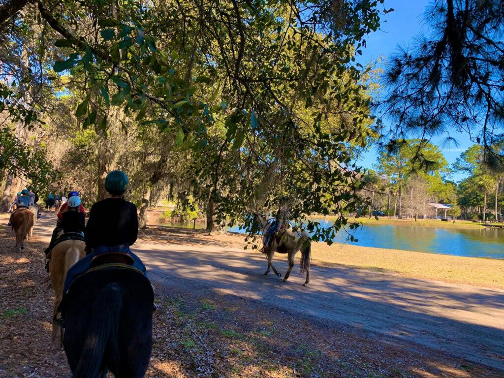 horseback riding on Hilton Head Island